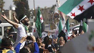 Manifestation anti-Bachar al-Assad à Idlib (nord-ouest de la Syrie), le 15/03/2021