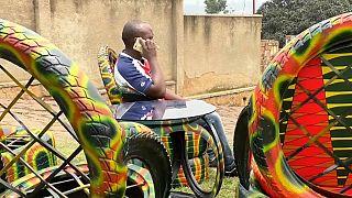 Jean de Dieu Kamana,  artisan-écolo et businessman, Kigali (Rwanda), le 24/02/2021 - Capture d'écran d'une vidéo AP