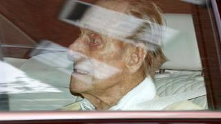 Britain's Prince Philip leaves the King Edward VII hospital