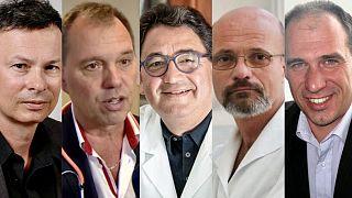 Purebl György, Szlávik János, Merkely Béla, Zaher Gábor és Kunetz Zsombor