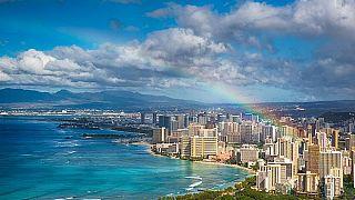قوس قزح في سماء هاواي