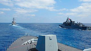 رزمایش ارتش ترکیه در مدیترانه