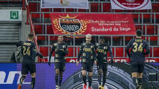 Standard Liege, pictured during a Europa League match, are one of the most successful clubs in Belgium.