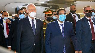Le président tunisien Kais Saied en visite officielle à Tripoli