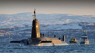 HMS Vanguard, one of the UK's nuclear-armed submarines