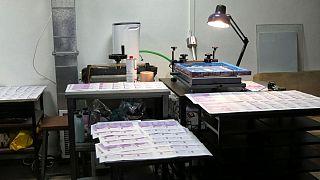 محل چاپ اسکناسهای تقلبی یورو و دلار در بلغارستان