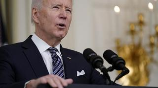 President Joe Biden speaks about the COVID-19 relief package in the State Dining Room of the White House, Monday, March 15, 2021, in Washington.