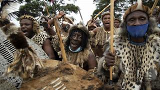 South Africa: Colourful procession ahead of Zulu king's burial