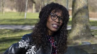 Sylvana Simons, who is campaigning for the Dutch general election on a platform of what she calls radical equality, poses for a portrait in Amsterdam, Netherlands.