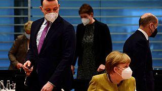 Kabinettssitzung in Berln mit Jens Spahn und Angela Merkel an diesem Mittwpch