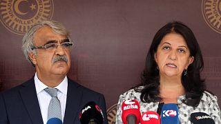 HDP Eş Genel Başkanları Pervin Buldan ile Mithat Sancar