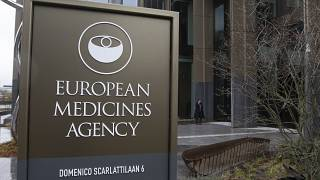 The exterior of the European Medicines Agency, EMA, is seen in Amsterdam, Netherlands, Tuesday March 16, 2021.