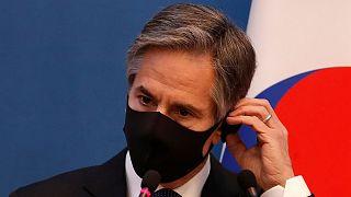 آنتونی بلینکن، وزیر امور خارجه آمریکا در سفر کره جنوبی