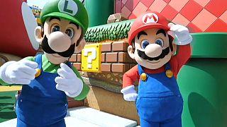 """Ouverture du parc à thème """"Mario"""" à Osaka, au Japon, 18 mars 2021"""