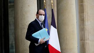 French Prime Minister Jean Castex leaves after the weekly cabinet meeting at the Elysée Palace in Paris, Wednesday, March 17, 2021.
