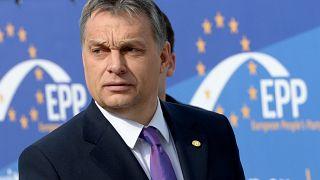 Orbán Viktor 2013. március 14-én érkezik az EPP tanácskozására Brüsszelben