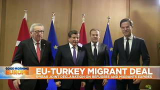 EU Leaders and Turkish PM hail the deal on 18 March, 2016