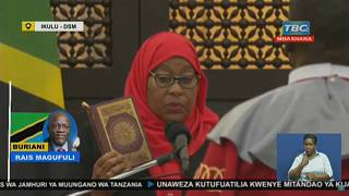 Samia Suluhu Hassan sworn in as Tanzania's first female president