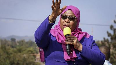 Tanzania's President Suluhu elected head of ruling party