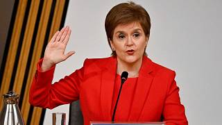 First Minister of Scotland Nicola Sturgeon takes the oath before giving evidence to the Committee