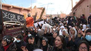 Protestation contre des expulsions de cultivateurs marocains par l'Algérie