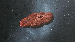 Una recreación del Oumuamua.