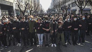 Selanik'te protestolar