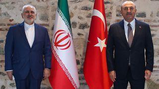 Dışişleri Bakanı Mevlüt Çavuşoğlu ve İran Dışişleri Bakanı Muhammed Cevad Zarif