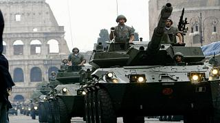 Italian tanks parade during the Day of the Republic celebrations in central Rome in 2004