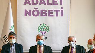 Kerem Altıparmak (sol) Ömer Faruk Gergerlioğlu (orta) Ahmet Türk, (Sağ)