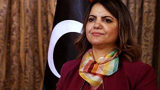 نجلاء المنجوش، وزيرة الخارجية في حكومة الوحدة الوطنية الانتقالية في ليبيا.
