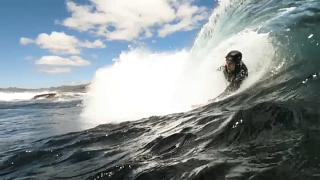 Bodysurfing in Südafrika