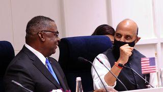 ABD Savunma Bakanı Lloyd Austin ve Hindistan Savunma Bakanı Rajnath Singh