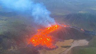 فوران آتشفشانی در ایسلند
