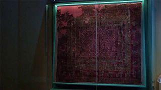 سجادة قديمة في متحف سان بطرسبورغ يعود تاريخها إلى 2500 عاما