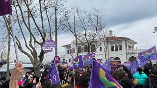 Kadıköy'de kadın hakları savunucuların protestosu
