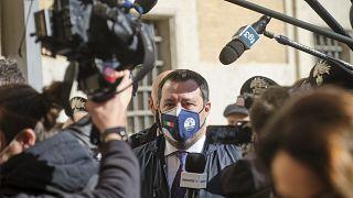 İtalya'da aşırı sağcı Lig Partisi'nin lideri Matteo Salvini'nin