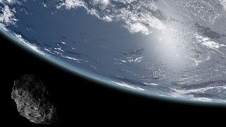 عکس تزئینی از عبور سیارک از نزدیکی زمین