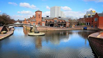 Birmingham's industrial past makes it home to the most canals and waterways in the UK
