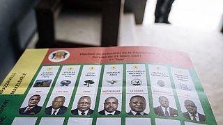 Bulletin de vote pour l'élection présidentielle en République du Congo - Brazzaville (Congo), le 21/03/2021