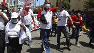 Yonhy Lescano candidato de la centroderechista Acción Popular