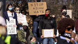 Detalle de una de las manifestaciones que tuvo lugar el sábado en Chicago (Estados Unidos)