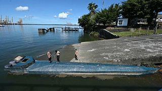 Un narcosubmarino confiscado en Colombia