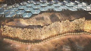 Látványterv - Nüwa, a Mars tervezett fővárosa