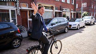 Mark Rutte kerékpáron indult az EP-választásokra 2019 májusában