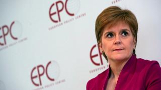 Scotland's First Minister Nicola Sturgeon at the European Policy Center in Brussels onFeb. 10, 2020.