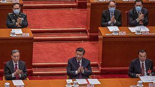 Çin Devlet Başkanı Şi Cinping ve Çin Komünist Partisi (ÇKP) Politbüro üyeleri