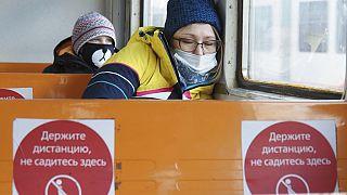 Im Bus in Moskau
