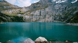 Oeschinen Lake in the Swiss Alps