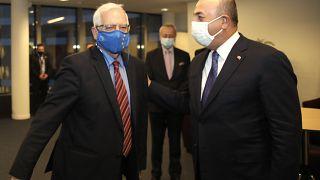 AB Dış İlişkiler ve Güvenlik Politikası Yüksek Temsilcisi Josep Borrell ve Dışişleri Bakanı Mevlüt Çavuşoğlu